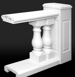 10 In Polymer Stone Balustrade System