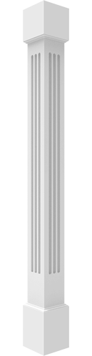 Fluted Non-Tapered Square Columns