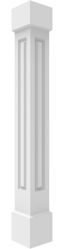 Paneled Non-Tapered Square Columns