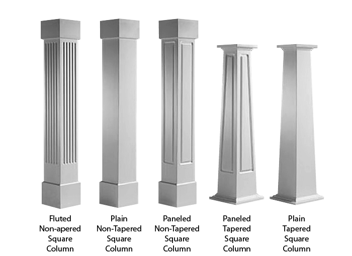 Craftsman PVC Column Wraps