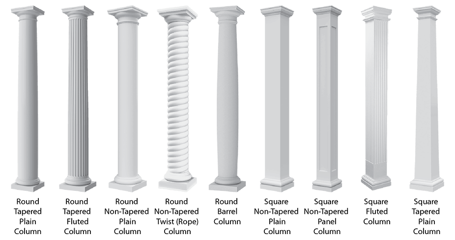 Architectural CAD Drawings | Columns | Balustrades