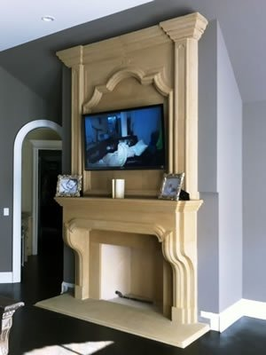 Grand Tudor Fireplace