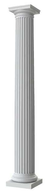 Round Tapered Fluted Columns