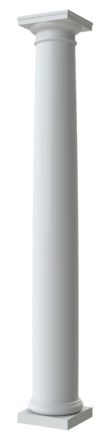 Round Tapered Plain Columns
