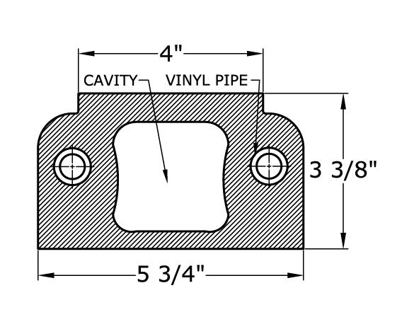 0411 Balustrade Railing Bottom