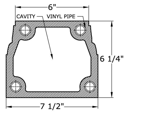 0431 Balustrade Railing Bottom