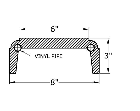 0455 Balustrade Railing Bottom
