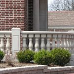 10-Inch-Wide Light Weight Stone Balustrades Polymer Sandstone Buff Color