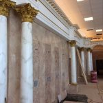 Fire Rated Interior Fiberglass Column Plain Roman Corinthian Tapered