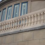 Polymer Stone Balustrades Royal Greek 7 Inch System Creme Textured
