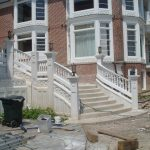 Polymer Stone Balustrades Tiffany 5 Inch System White Smooth Finish