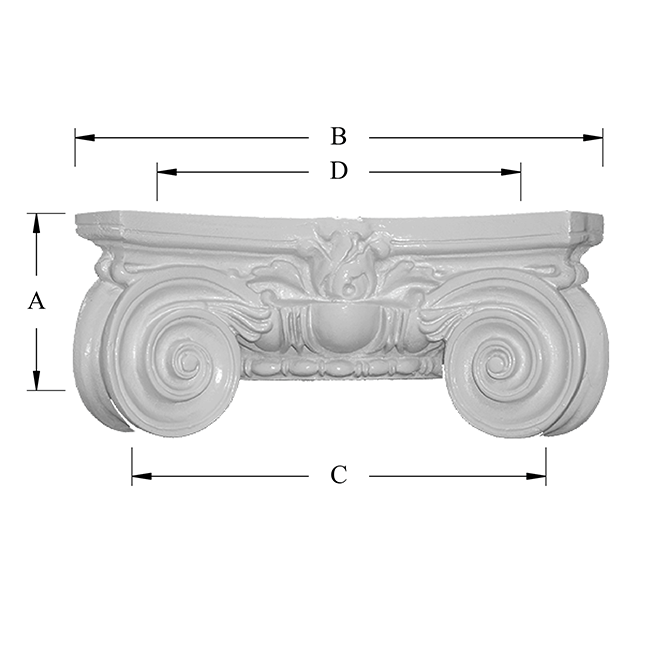 Scamozzi Decorative Capital Dimensions